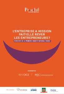 """Couverture de la publication """"l'entreprise à mission fait-elle rêver les entrepreneurs français ?"""""""